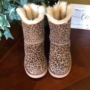 UGG Cheetah Print Bailey Bow Boots